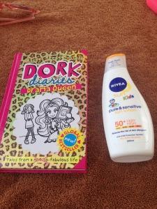 Dork Diaries and Nivea Suncream