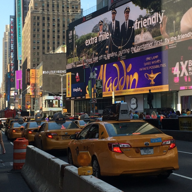 Manhattan. Broadway. Yellow Taxi.