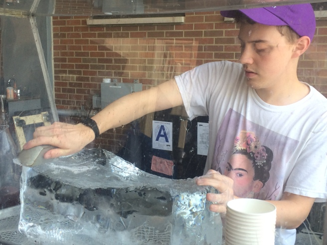 Slushies. Ice block
