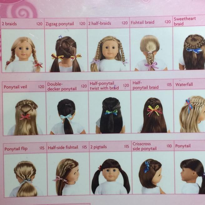 Dolls hair styles