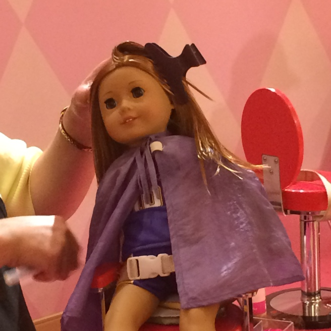 Doll at hairdressers