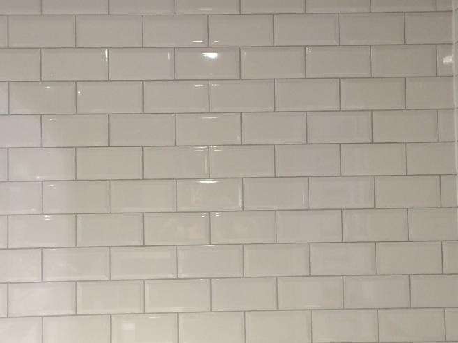 White brick tiles.